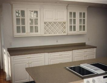 Kitchen with cabinets and countertops